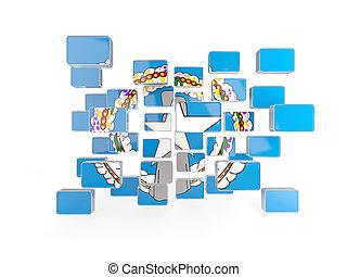 Flag of northern mariana islands, mosaic background