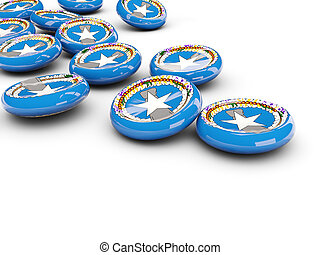 Flag of northern mariana islands, round buttons