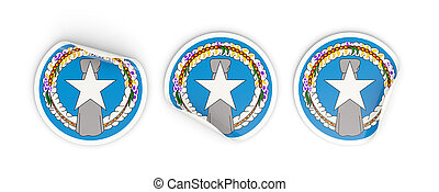 Flag of northern mariana islands, round labels