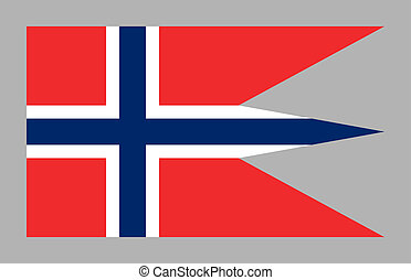 Flag of Norway 2, isolated on gray. - State and war flag and...