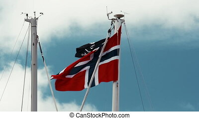 Flag Of Norway, Blue Sky