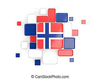 Flag of norway, mosaic background