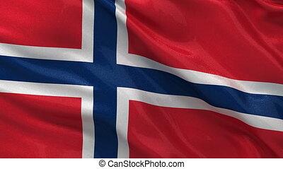 Flag of Norway seamless loop