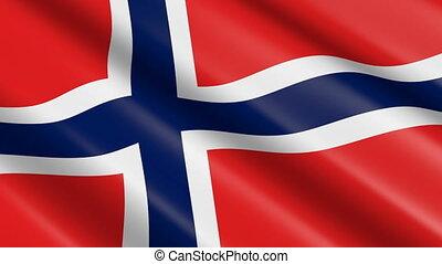 Flag of Norway (seamless loop)