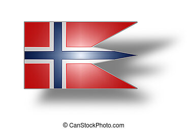 Flag of Norway state and war (stylized I).