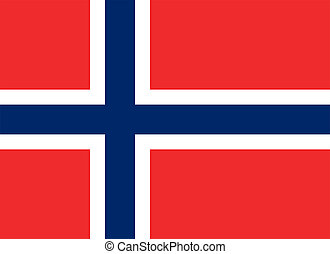 Flag of Norway. - Civil flag and ensign of Norway. Proper...