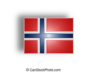 Flag of Norway (stylized I). - Civil flag and ensign of...