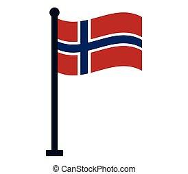 Flag of norwegian