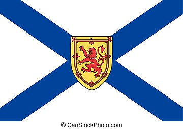 Flag of Nova Scotia Province, Canada. Vector Format