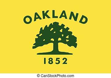 Flag of Oakland, California, USA. Vector Format