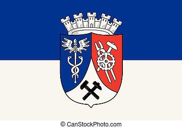 Flag of Oberhausen, Germany. Vector Format.