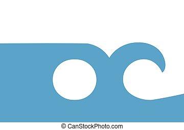 Flag of Ocean City, Maryland, USA. Vector Format