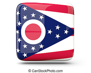 Flag of ohio, US state square icon