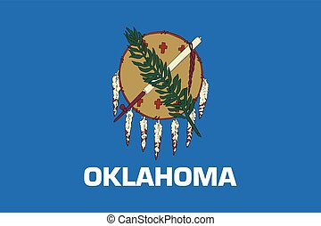 Flag of Oklahoma State, USA. Vector Format