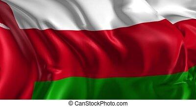 Flag of Oman - Beautiful 3d animation of Oman flag in loop...