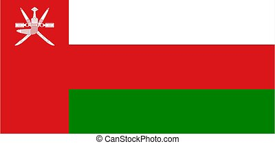 flag of Oman Vector illustration