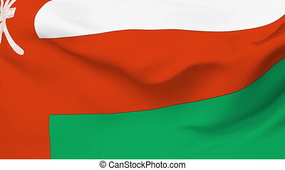Flag of Oman - Flag of the Oman waving in the wind. Seamless...