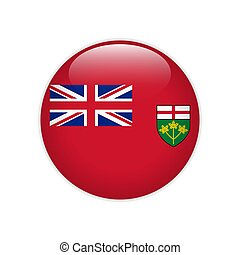 Flag of Ontario button