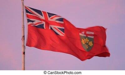 Flag of Ontario, Canada - Province of Ontario flag, Canada