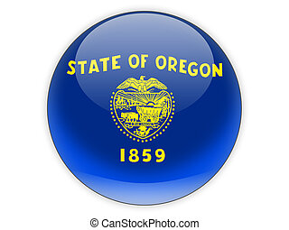 Flag of oregon, US state icon