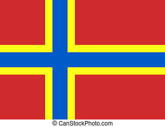 Flag of Orkney Horizontal - Official Flag of Orkney Flat...
