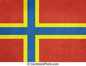 Flag of Orkney Islands - Grunge official flag of the Orkney...