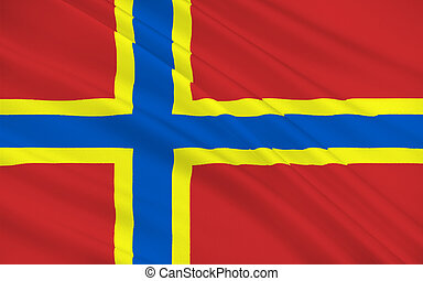 Flag of Orkney of Scotland, United Kingdom of Great Britain...