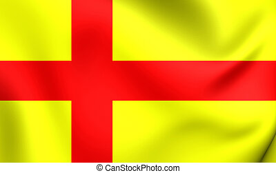 Flag of Orkney, Scotland. - 3D Flag of the Orkney, Scotland....
