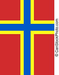 Flag of Orkney Vertical - Official Flag of Orkney Flat Large...