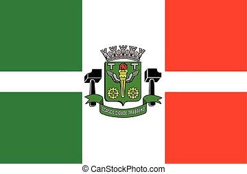 Flag of Osasco, Brazil. Vector Format
