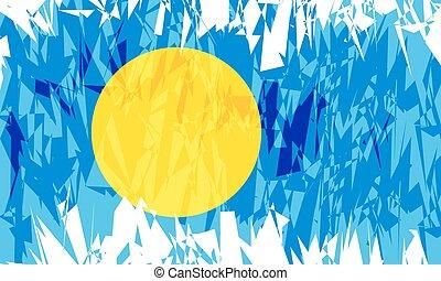 Flag of Palau.