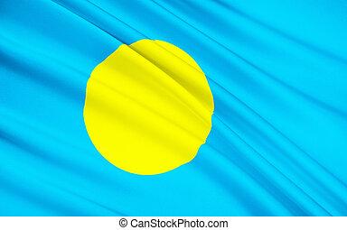 Flag of Palau, Ngerulmud - Micronesia