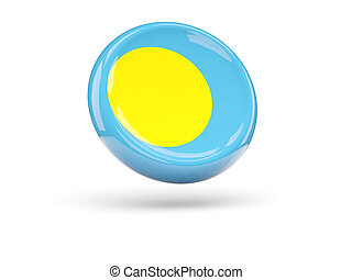 Flag of palau. Round icon