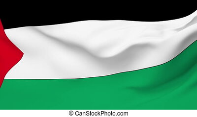 Flag of Palestine - Flag of the Palestine waving in the...