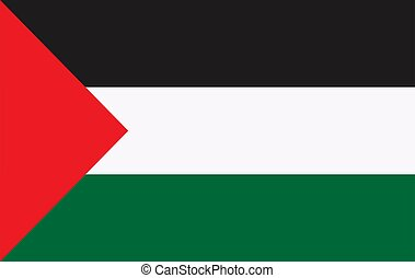 flag of palestine vector icon illustration