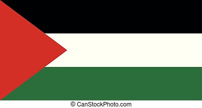 Flag of Palestine. Vector illustration. World flags