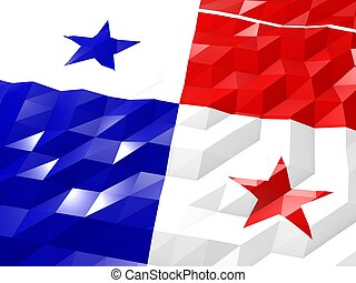 Flag of Panama 3D Wallpaper Illustration