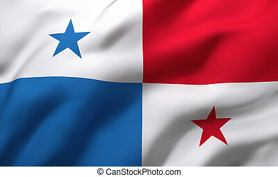 Flag of Panama blowing in the wind