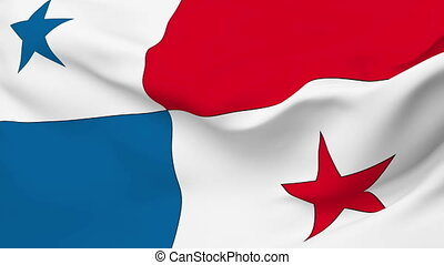 Flag of Panama - Flag of the Panama waving in the wind....