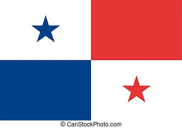 Flag of Panama vector illustration