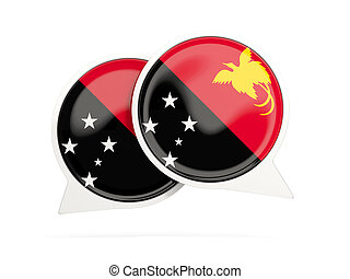 Flag of papua new guinea, round chat icon