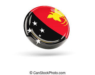 Flag of papua new guinea. Round icon