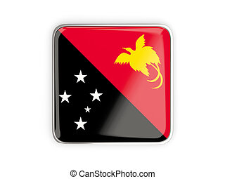 Flag of papua new guinea, square icon