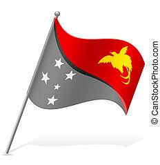 flag of Papua New Guinea vector illustration