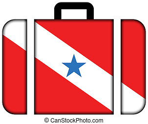 Flag of Para State, Brazil. Suitcase icon, travel and transportation concept