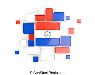 Flag of paraguay, mosaic background