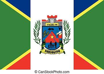 Flag of Periquito, Brazil. Vector Format