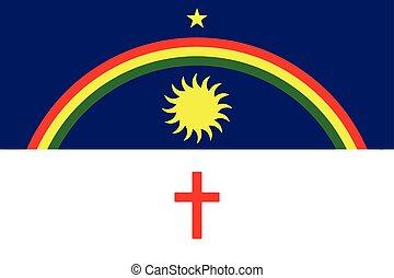 Flag of Pernambuco State, Brazil. Vector Format