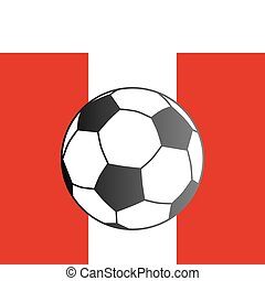 Flag of Peru and soccer ball