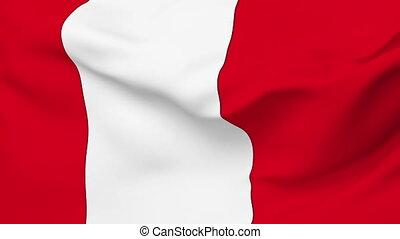 Flag of Peru - Flag of the Peru waving in the wind. Seamless...